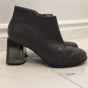 Camper Translucent Heel Booties Size 36